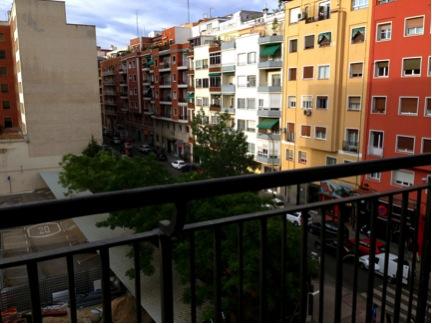 Overlooking Calle Hilarión Eslava.