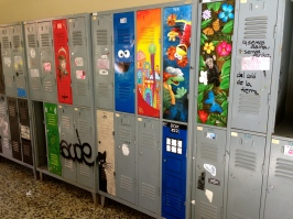 Even the lockers are decorated