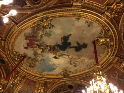 Cherubs (I think?) stare down from every ceiling.