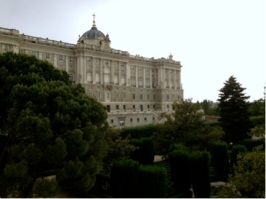 The Royal Palace from the backyard.