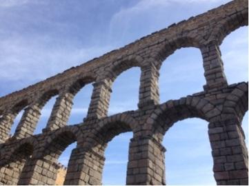 The Roman Aqueduct.