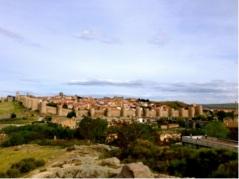 The walled city of Avíla.