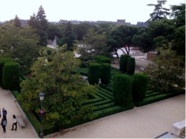 Palace gardens.