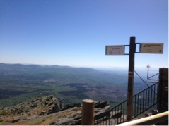 View from a Sierra de Francia mountaintop.