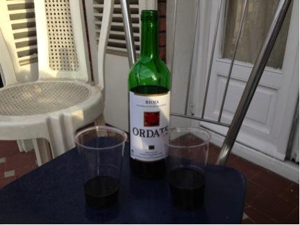 Splurging on some 2.50-euro wine, baby!