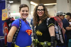 These ladies have been coming to Comic-Con for about six years. They always knit their costumes at home.