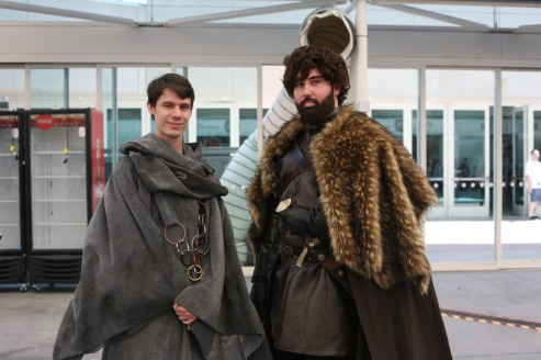"Hayden Donze (L) and Steven Bustamante in full ""Game of Thrones"" attire."